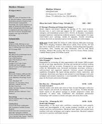 It Director Resume Examples by Download Resume Templates 35 Free Word Pdf Document Download
