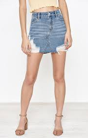 denim skirt denim skirts denim shorts and denim dresses pacsun