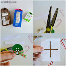 recycled carton gingerbread house pint sized treasures