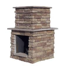 cal flame 78 in brown cultured stone propane gas outdoor