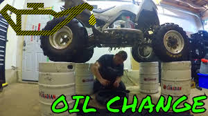 how to change oil on four stroke atv yamaha raptor 700 enduro