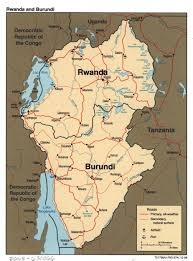 Rwanda Map Large Detailed Political Map Of Rwanda And Burundi With Roads