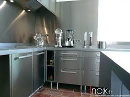 cuisine avec credence inox cracdence cuisine inox credence de cuisine ikea awesome superior