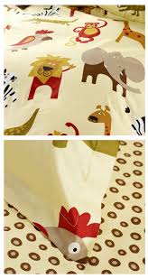 Elephant Bedding Twin Safari Animals Kids Bedding Twin Duvet Cover Set For Boys U0026 Girls