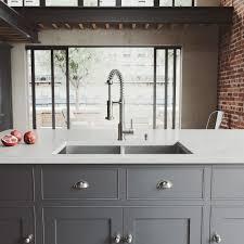 Stainless Steel Kitchen Sinks Undermount Reviews Vigo Undermount Stainless Steel 32 In Bowl Kitchen Sink