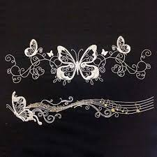 butterfly scroll embroidery design