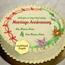 wedding anniversary cakes marriage anniversary wishes with names