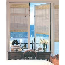french door bamboo blind in natural 24x72 inch free shipping on