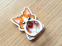 acrylic cat ring holder images Timelax mini creations cat phone ring calico cat phone ring png