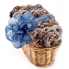hanukkah gift baskets hanukkah dipped belgian chocolate pretzel gift basket