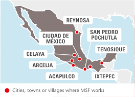 Where Is Central America On The World Map by Mexico Msf Usa
