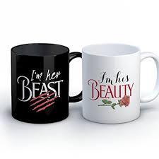 his and mug couples coffee mug his beauty beast 11