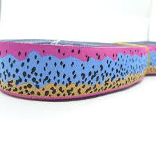 woven ribbon rainbow trout pattern european jacquard ribbon wholesaler in yiwu