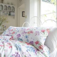 patricia rose innocence 100 cotton floral duvet cover set dove mill
