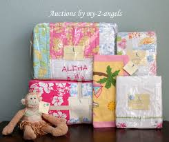 Surfer Crib Bedding Pottery Barn Pink Island Patchwork Surf Hawaiian Aloha