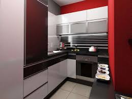 kitchen bright small kitchen design with l shape red small
