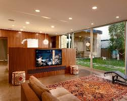 Tv Room Divider Drop Down Screen Converts Tv Room To Theater Electronic House