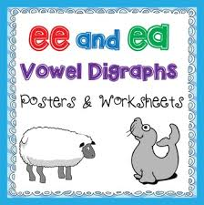 ee and ea vowel digraphs activities and posters by teaching trove