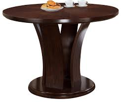 Dictionary Pedestal Crown Mark Daria Counter Height Round Pedestal Table In Espresso
