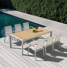 Patio Table 6 Chairs Contemporary U0026 Modern Outdoor Dining Set Furniture Stores