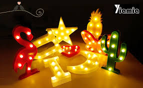 How To Hang Christmas Lights In Room Amazon Com Led Cactus Light Yiamia Cute Night Table Lamp Light
