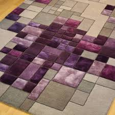 Purple And Grey Area Rugs Pixel A Luxury Wool And Viscose Handmade Rug In Purple And Grey
