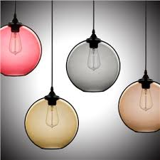 lighting design ideas colored glass pendant lights three color