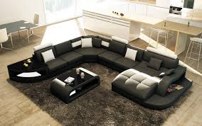 canapé design noir et blanc deco in canape d angle design panoramique noir et blanc