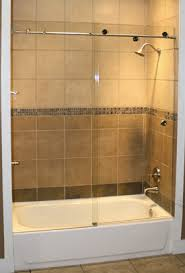 Sliding Bathtub Shower Doors Skyline Series Sky 3 8 Glass Three 1 Inch Rollers Frameless