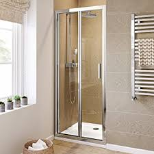 900mm bifold easy clean 6mm glass shower enclosure reversible