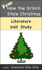 how the grinch stole unit study homeschool helper