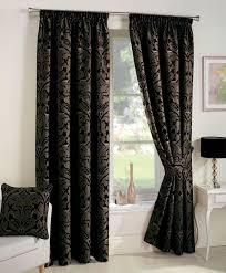Black Floral Curtains Black Curtain Floral Curtains Damask Stupendous 799c83a6089c 1