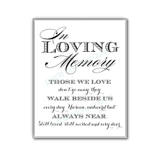 in memory of wedding program in memory of quotes for wedding