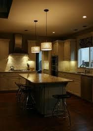 Contemporary Island Lighting Countertops Backsplash Overhang Granite Kitchen Island White