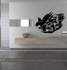 wall decals stickers home decor home furniture diy eagle and semi truck wall art sticker decal ar125