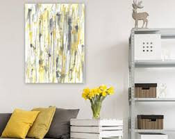 Grey And Yellow Home Decor Yellow Gray Wall Art Etsy