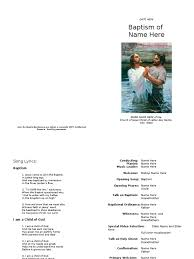 baptism program template