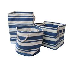 laundry hamper canvas blue u0026 white stripe large canvas bags