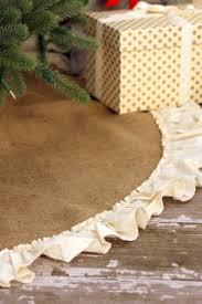 burlap tree skirt creative ideas for christmas tree skirts southern living