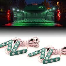 Truck Bed Lighting 8 Amber Led Rock Light Pods Truck Bed Lighting Kit Xprite