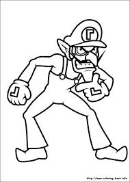 mario bros coloring picture
