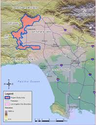 Los Angeles Area Map by Upper Los Angeles River Area Recharge Suitability Analysis Pdf