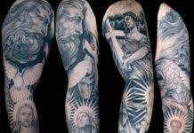 religious tattoo on chest tattoos book 65 000 tattoos designs