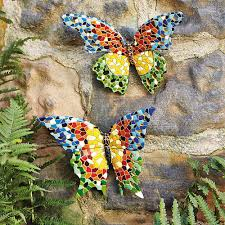 Large Butterfly Decorations by Outdoor Butterfly Decorations Garden Art Outdoor Decor
