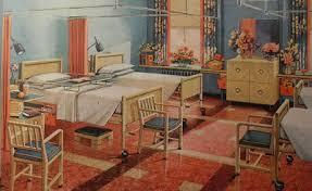 1940s interior design 1940s modern hospital vintage interior design illustration bmp