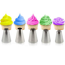 home decorating tools 5pcs large pastry tips cake decorating tools set cream nozzle