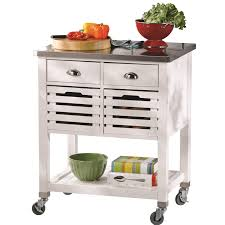kitchen island cart with stainless steel top stainless steel top kitchen cart home design and decorating