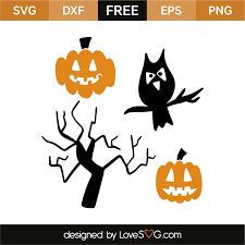 halloween elements lovesvg com