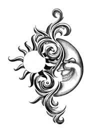 iron tribal sun moon tattooforaweek temporary tattoos largest
