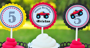 monster truck jam party supplies monster truck cupcake toppers monster truck birthday party